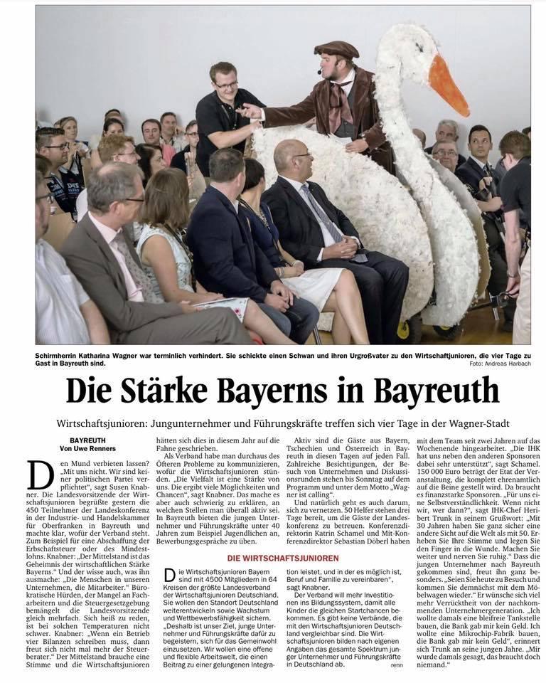 Nordbayerischer Kurier: Stärke Bayerns in Bayreuth - LAKO 2016